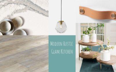 Kitchen design inspiration: modern rustic glam kitchen