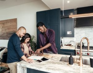 Family deciding how to hire a flooring contractor