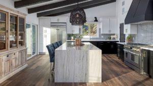 Sample room scene showing vinyl Kitchen Flooring