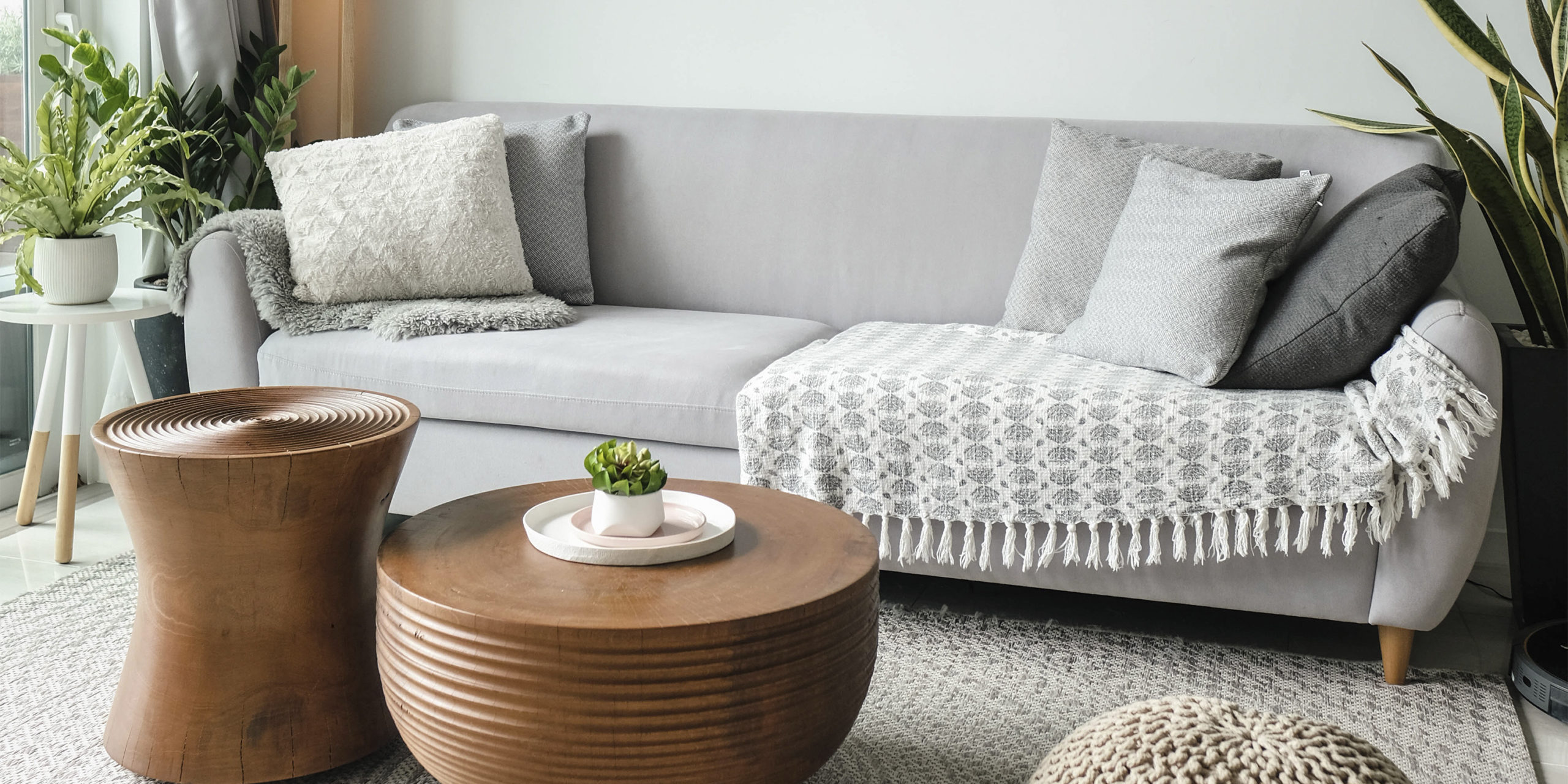 Example of choosing rugs for the living room