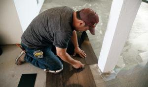 Example Of Vinyl Flooring Installation