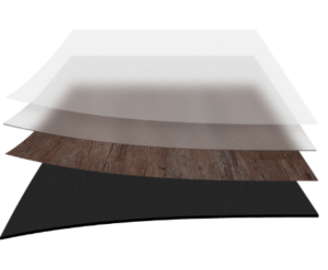 Visualization of glue down layers and flooring thickness