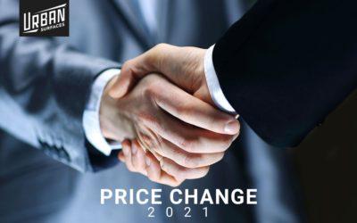 2021 Price Change Notice