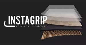 InstaGrip LooseLay Vinyl Floor Logo And Layers Illustration