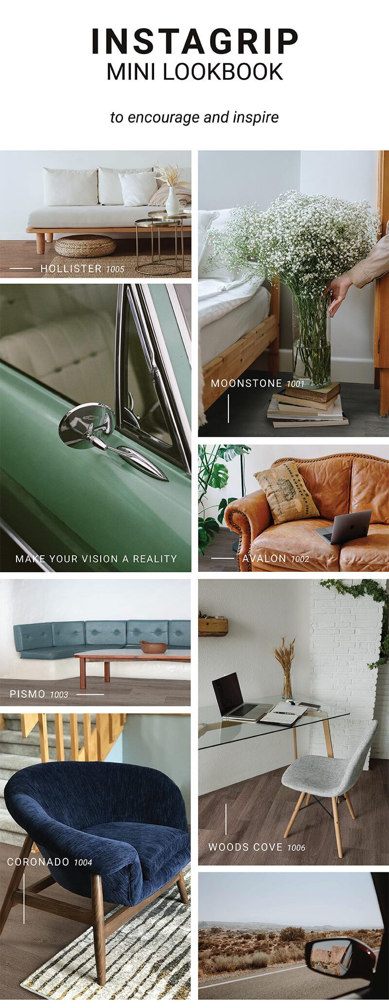 InstaGrip LooseLay Vinyl Flooring Collection Samples